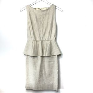 Alice + Olivia Sleeveless Peplum Dress Size 4
